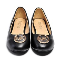 MK Michael Kors Slip-On Leather Flats Shoes