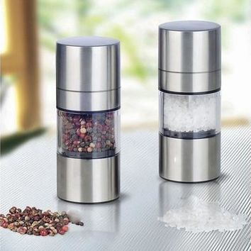 High Quality Stainless Steel Manual Salt Pepper Mill Grinder Portable Kitchen Mill Muller Tool [8833422220]