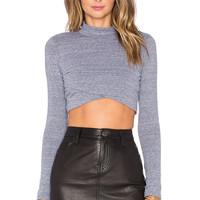 NYTT Olivia Crop Top in Heather Grey