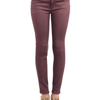 ModCloth Skinny Chance Encounter Pants in Cocoa