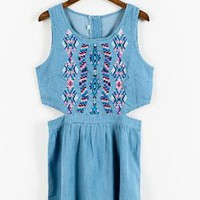 embordary denim cut out dress from mancphoebe