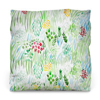 Green Pastures Outdoor Throw Pillow