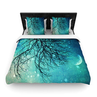 "Sylvia Cook ""Winter Moon"" Woven Duvet Cover"