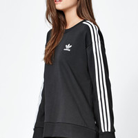 adidas 3-Stripes Crew Neck Sweatshirt at PacSun.com
