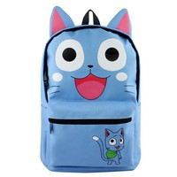 Anime Fairy Tail High Quality Canvas Solid Color Laptop Backpack Double-Shoulder School Bag