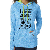 Harry Potter Inspired Clothing - I Solemnly Swear That I Am Up to No Good Contrast Hooded Fleece - Ladies