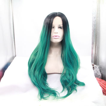 Kylie Jenner Synthetic  Baby Green Ombre Wig