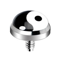 Surgical Steel Yin Yang Logo Dermal Anchor Top