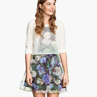 H&M Patterned Organza Skirt $29.95