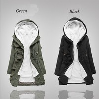 Women Parka White Coat Fur Hoodie Cotton Heavy Winter Jacket Outwear jd0013