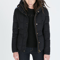 Short waisted down jacket