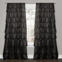 Lush Decor Ruffle Window Curtain
