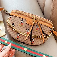 GUCCI & Disney New fashion more letter mouse print handbag shoulder bag crossbody bag
