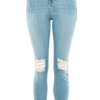 MOTO Authentic Bleach Ripped Jeans