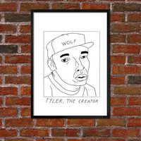 Badly Drawn Tyler, The Creator - Hip Hop Poster