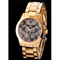 COACH Tide brand men and women models simple versatile watch