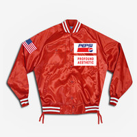 Pepsi x Profound Satin Stadium Jacket in Red