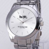 """Coach"" Fashion Women Men Simple Movement Quartz Watches Wrist Watch I-YY-ZT"