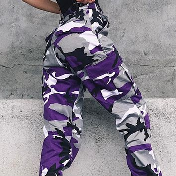 New hot sale camouflage tooling denim casual pants harem pants