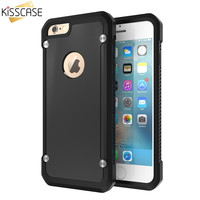KISSCASE Armor Transparent Case for iPhone 7 6 for iPhone 7 6 6S Plus Coque Protective Phone Back Case Cool Luxury Accessories
