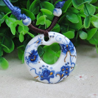 Magnificent Vintage Style Hand Knitting Ceramic Necklace Sweater Chain Jewelry Accessories = 1695685828