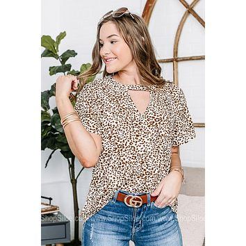 You Had Me At Hello Cheetah Print Top