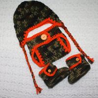 Baby Boy's Infant Camo Diaper Cover With Braids