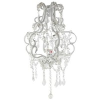"""15"""" Clear Beaded Hanging Chandelier 