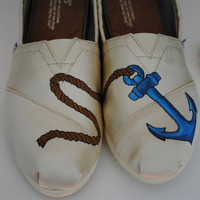 Custom Hand Painted Toms Anchor Design READY by PaperHeartsCouncil