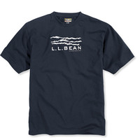 Men's Unshrinkable Graphic Tee, Short-Sleeve Sketch Mountains   Free Shipping at L.L.Bean