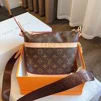 Louis Vuitton LV hot sale printing bucket bag large capacity foreign style single shoulder bag