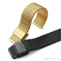 New Stainless Steel Smart Watch Strap Band for Apple Watch Iwatch 38/42mm Mesh steel watchband