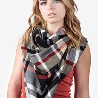 Black Bently Plaid Scarf | Plaid Scarves | Scarves.com