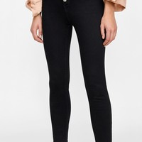 ZW PREMIUM HIGH WAIST FLY BUTTON JEANS DETAILS