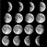 MOON PHASES GLOSSY POSTER PICTURE PHOTO full half crescent space stars cool