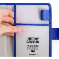 Monopoly Merrygrin RFID blocking small passport case