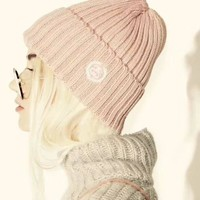 ESBOK3 Stussy Woman Fashion Beanies Winter Knit Hat Cap