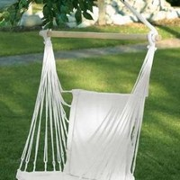 Relaxing Cotton Padded Swing Chair Patio Garden Home