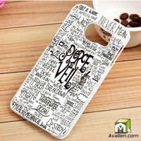 Pierce The Veil Song Lyric Samsung Galaxy S6 Edge Case by Avallen
