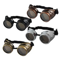 Vintage Style Steampunk Goggles Punk Gothic Glasses