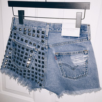 Dangers Dark Metal Studded Vintage Levis Shorts