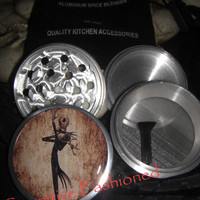 Jack Skellington Retro Nightmare Before Christmas 4 Piece Grinder Herb Spice from Cognitive Fashioned