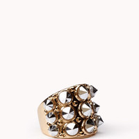 Mirrored Spiked Ring