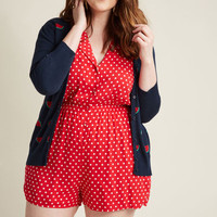 Read It and Steep Romper in Red Polka Dot