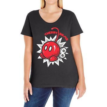 cherry bomb Ladies Curvy T-Shirt
