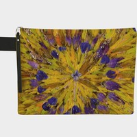 Tie Dye Purple Floral Zippered Pouch * Women's Zippered Pouch * Cosmetic Bag * Purse Organizer * Travel Pouch * Boho Fabric Pouch