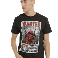 Marvel Deadpool Wanted Poster T-Shirt