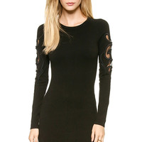 Black Embroidery Voile Splicing Dress