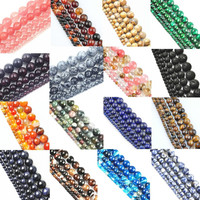 New! TOP Quality !6mm 40 piece/lot handmade loose spacer round natural stone beads for Bracelet DIY Jewelry Making free shipping