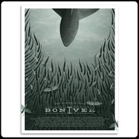 Bon Iver   2012 European Tour Screenprint Poster (A2)   Art Print   Officially Licensed Music T shirts, Hoodies and other merchandise.